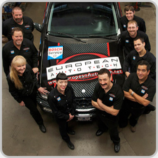 European Auto Tech BMW Repair Team Members