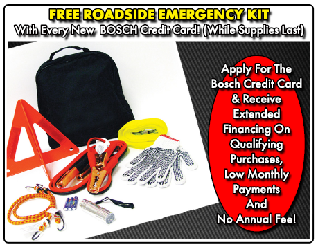 Bosch Credit Card with free Roadside Kit