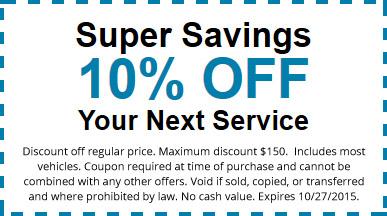 10% Service Discount Coupon