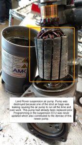 Land Rover Suspension Pump Failure