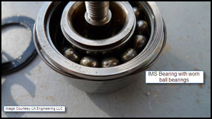 Porsche Bearing worn ims bearing balls