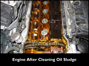 Engine After Cleaning Oil Sludge