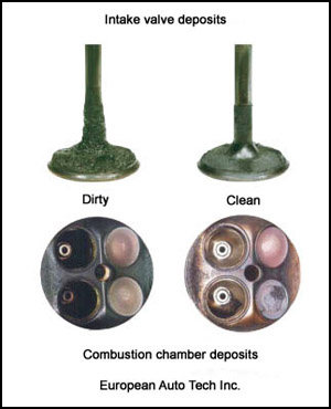 Clean and Dirty Intake Valves