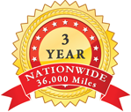 3 Year, 36,000 Mile Warranty Medallion