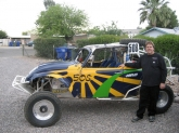 Jeff Hustin and his race car