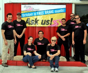 The European Auto Tech Team supports Brakes for Breasts' mission to prevent breast cancer